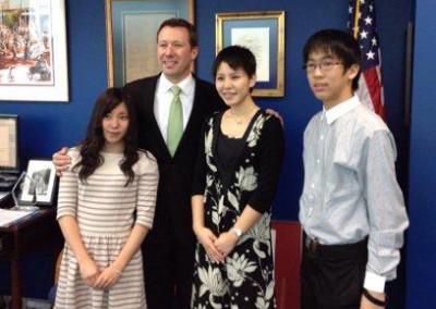 Japanese Students with Mayor Bemis