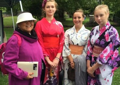 Tomiko with Skosh volunteers 2014