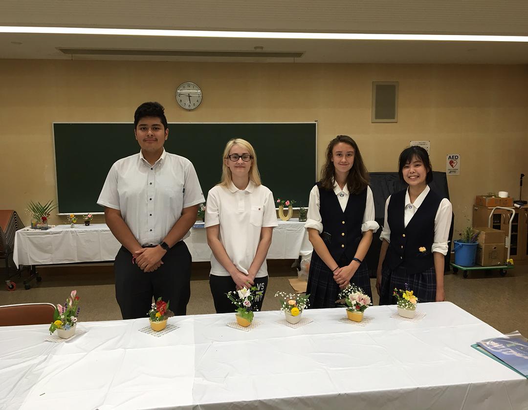 2018-07-17 ikebana with Koharu