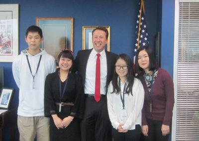 2017-01-25 Mayor Bemis meets 4 students