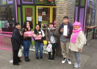 2017-01-31 Rie, 4 students, Tomiko at Voodoo