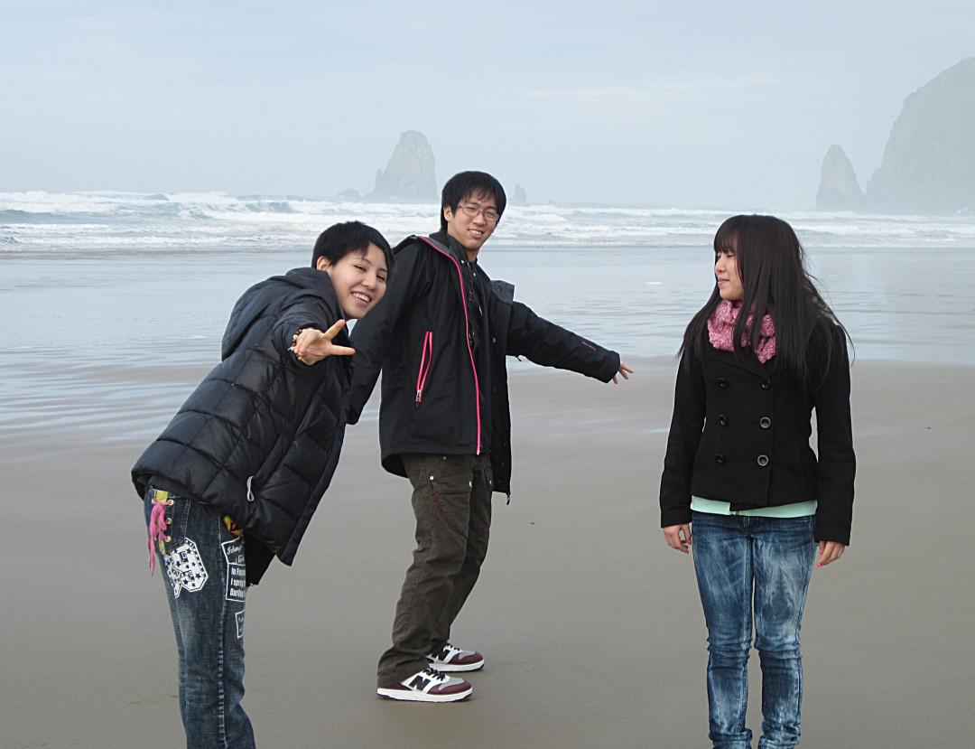 Haystack Rock in Seaside, Oregon