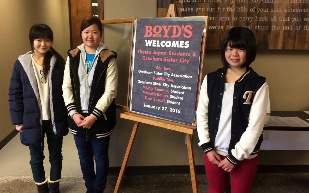 Manaka, Miyabi, Fuka at Boyd's