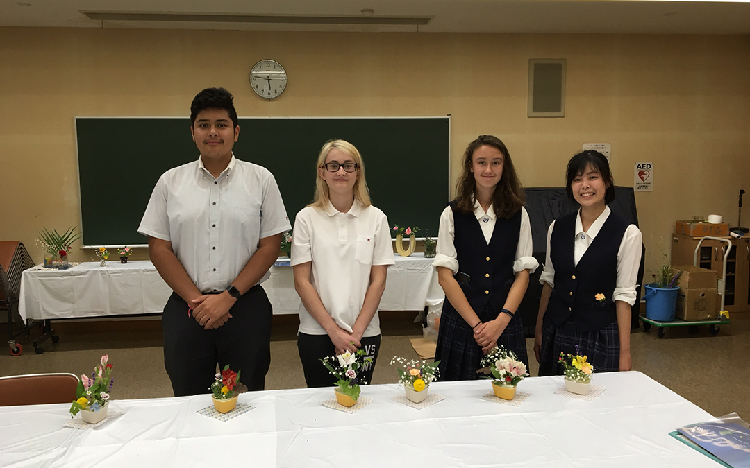 2018-07-17 ikebana with Koharu